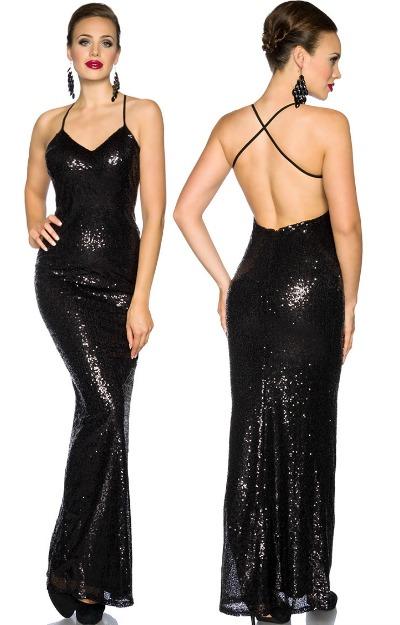 Rochie eleganta, lunga, din paiete