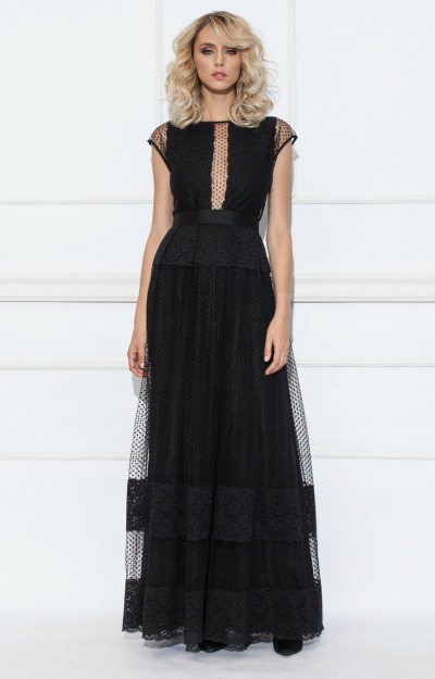Rochii de seara: rochie lunga cu dantela