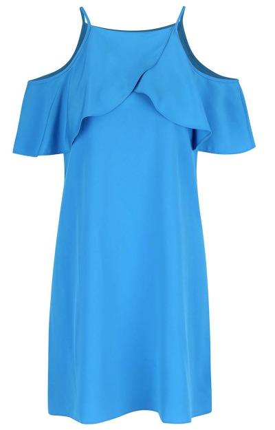 Rochii cu volane: Rochie albastra de zi