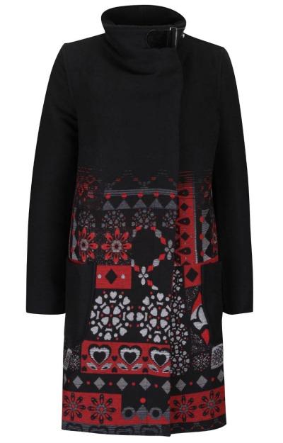 Paltoane: palton negru Desigual