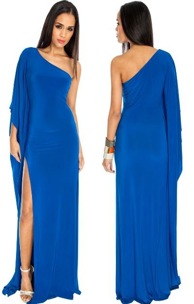 Rochie albastra, lunga, de seara