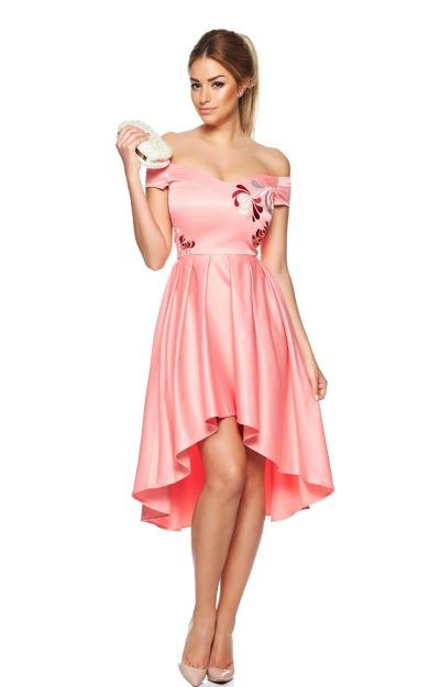Rochii balul bobocilor: Rochie midi roz