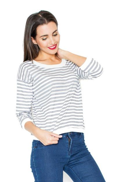 Bluze in dungi: Bluza cu maneci trei sferuri