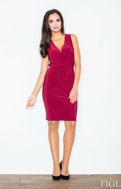 Rochii de Revelion: rochie burgundy scurta