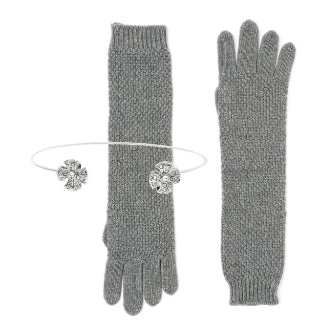 Manusi tricotate + bratari metalice