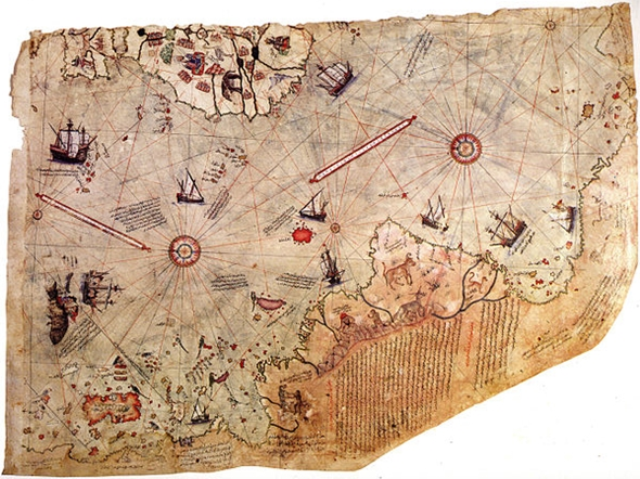 harta piri reis atlantinda