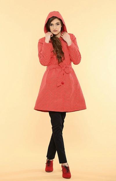 Haine cu buline: Cardigan rosu