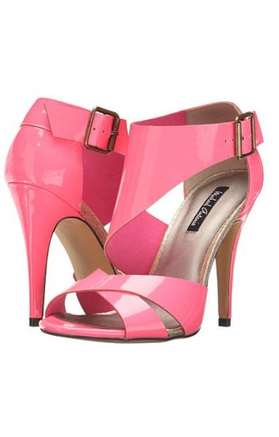 Sandale cu toc roz