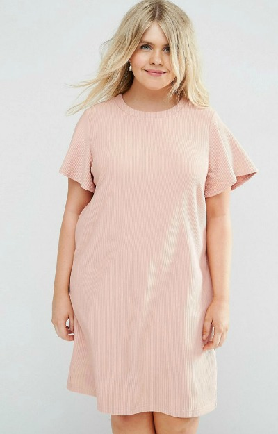 Rochie roz pal scurta