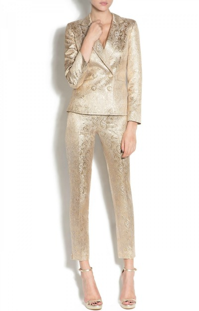 Pantaloni eleganti aurii