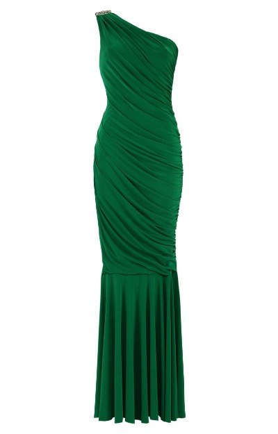Rochie verde, lunga
