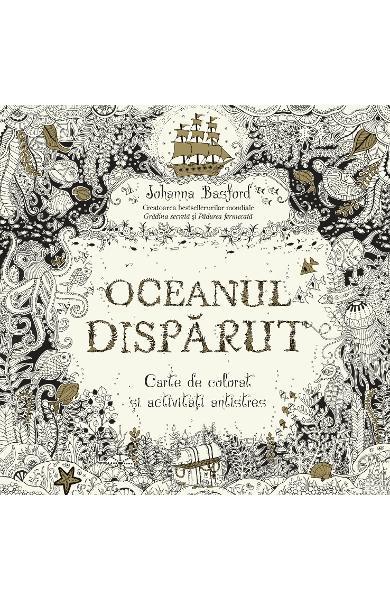 carte de colorat pentru adulti oceanul disparut