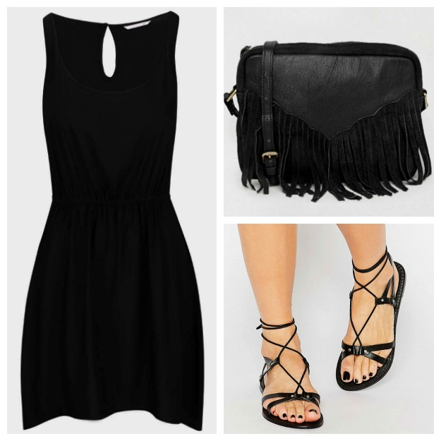 Outfit all black: Little black dress