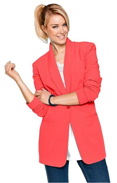 Sacouri colorate: Blazer lung roz