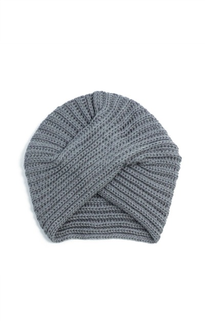 Caciula-tricotata-tip-turban-gri