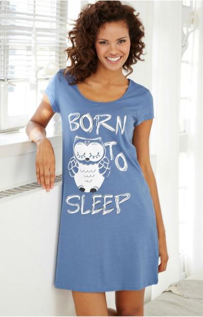 Camasa de noapte albastra