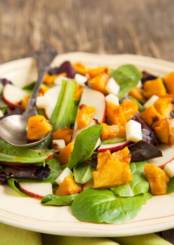 dieta cu dovleac: salata de dovleac cu mere