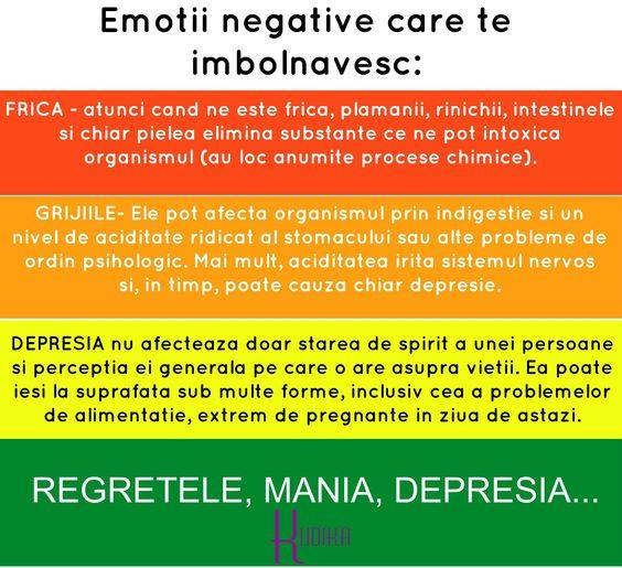 imfluenta emotiilor asupra bolilor si sanatatii