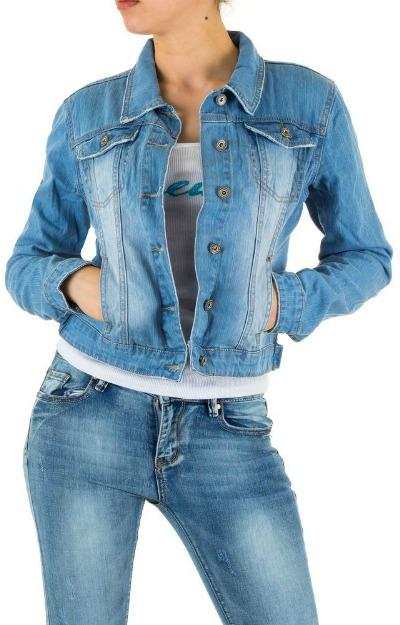 Jachete de blugi: Jacheta din denim prespalat