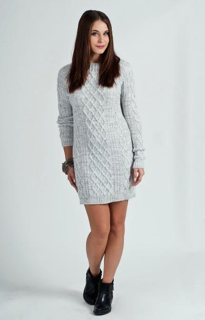 Rochii tricotate: Rochie scurta gri