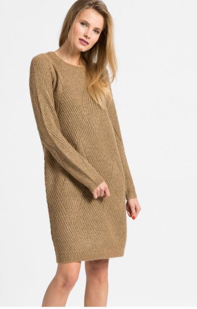 Rochii de iarna: rochie office din material gros