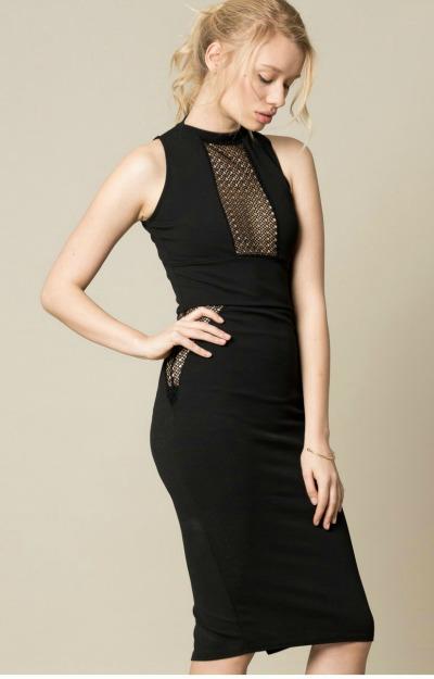 Rochii elegante: rochie neagra midi