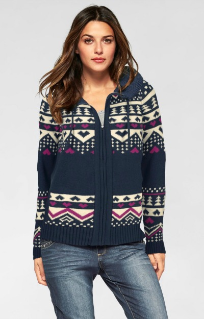 Haine de iarna: Hanorac tricotat