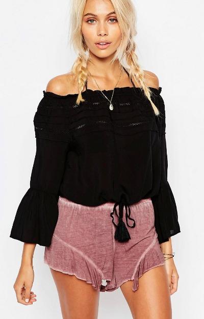 Gipsy style: Bluza pe umeri