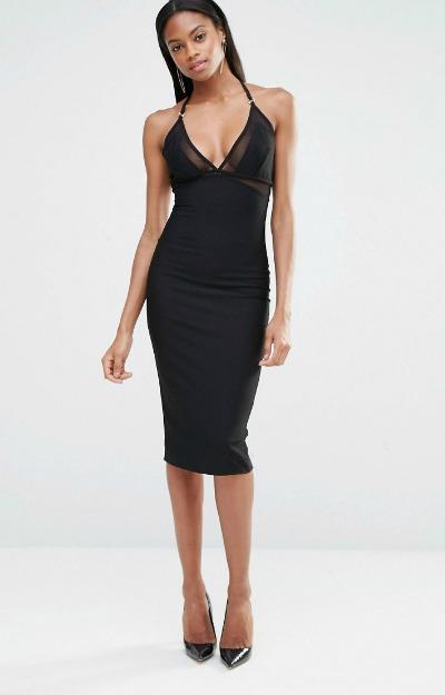 Rochie midi: Black Dress
