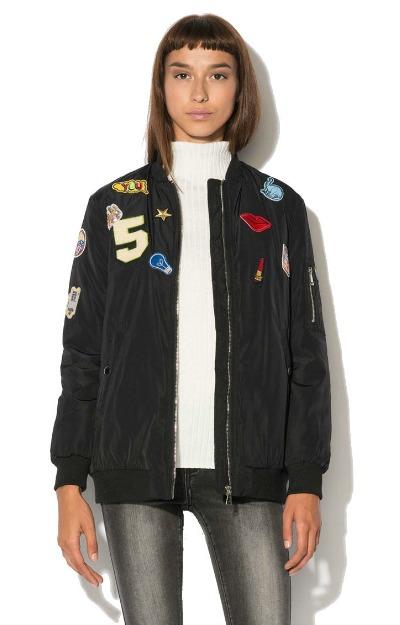 Jacheta bomber cu aplicatii