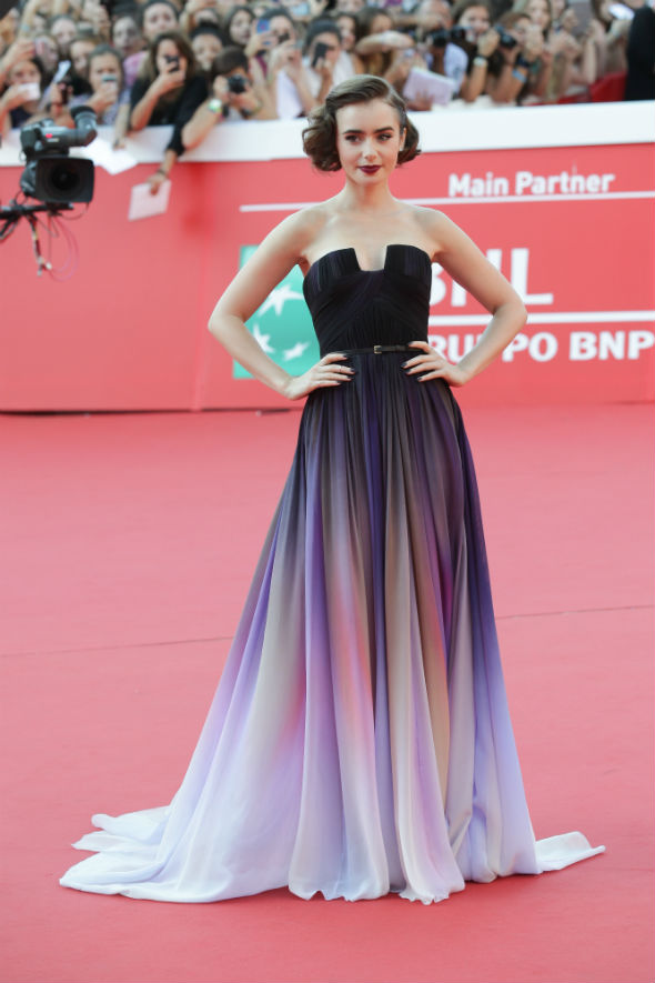 lilly collins elie saab