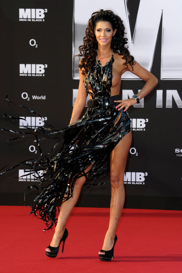 Micaela Schaefer la premiera filmului Men in Black 3