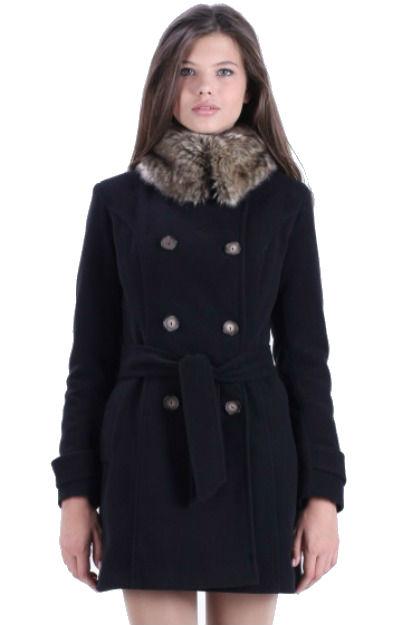 Paltoane de iarna: Palton cu guler imblanit