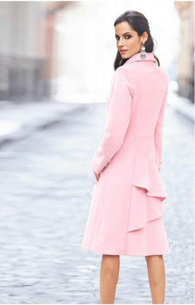 Paltoane de toamna: Palton elegant roz