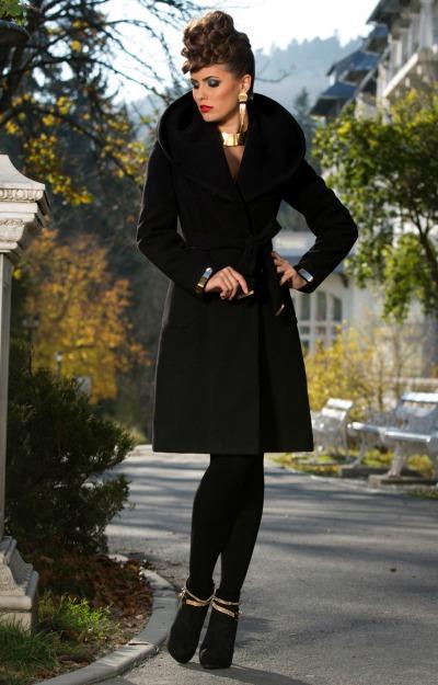 Paltoane: Palton negru elegant