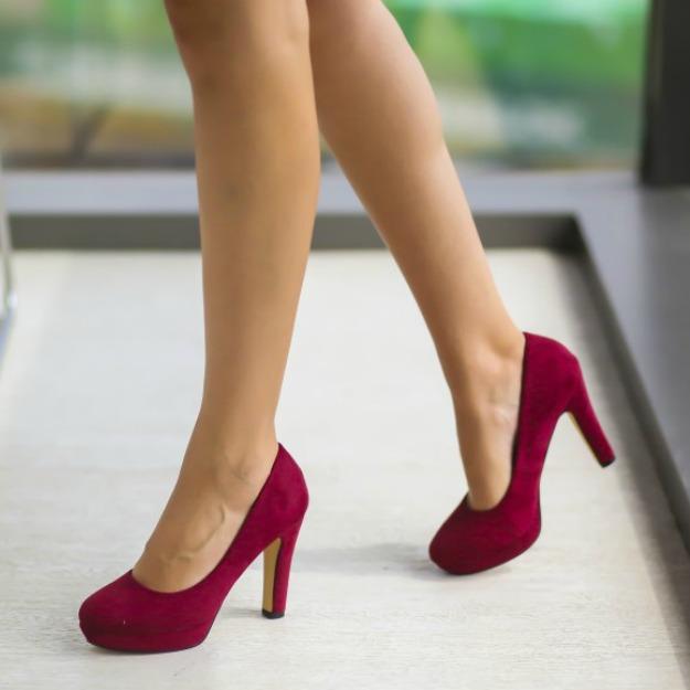 Pantofi cu toc gros