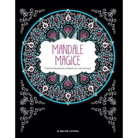 mandale magice carte de colorat