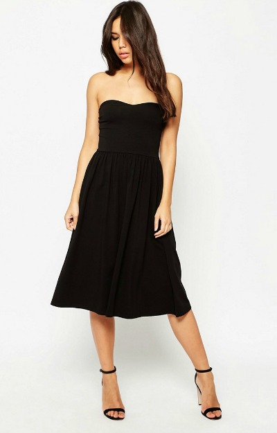 Rochie midi: Little Black Dress
