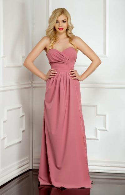 Rochii de seara: Rochie lunga roz pudra