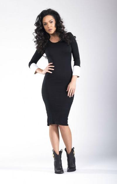 Rochii office: rochie midi neagra