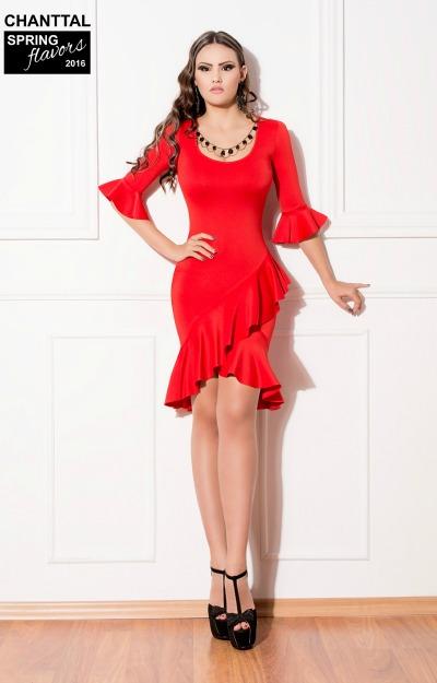 Rochii cu volane: Rochie flamenco rosie