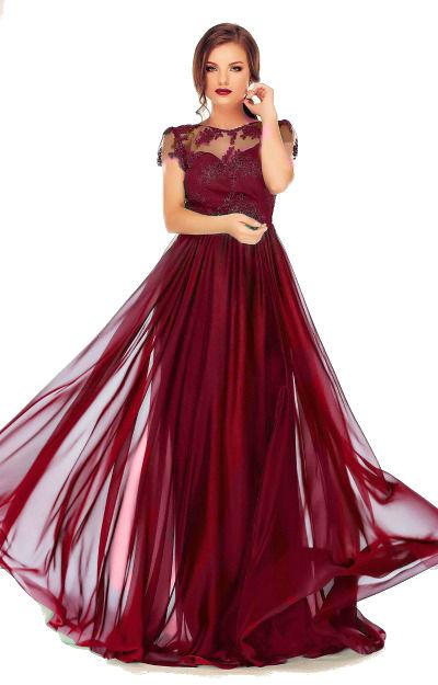 Rochii lungi de nunta: rochie-lunga-bordo