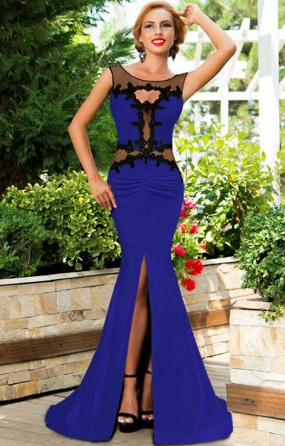 Rochii de seara: rochie-lunga-cu-plasa-si-dantela