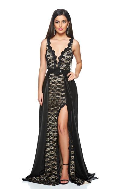 Rochii cu dantela: rochie lunga neagra