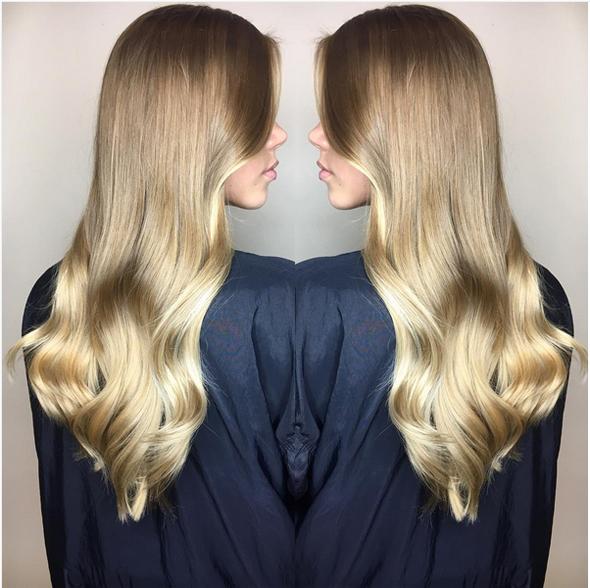 tendinte coafuri 2017 par blond: bucle retro ingrijire
