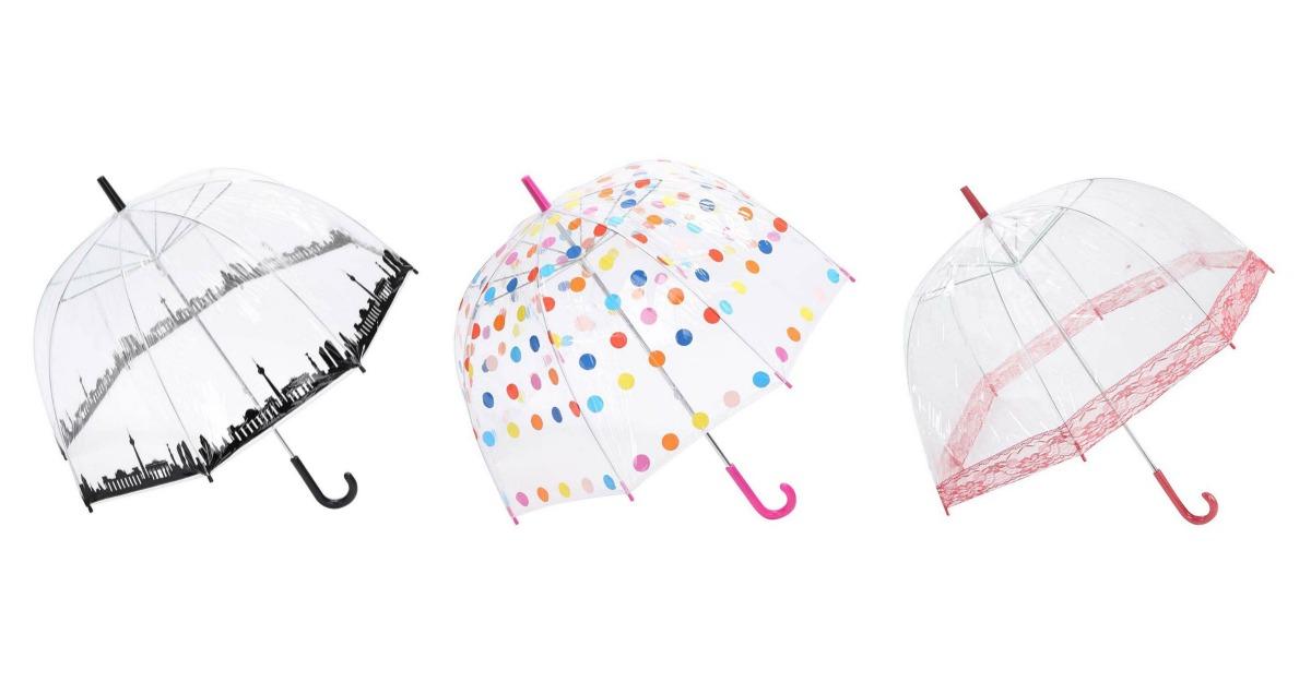 Umbrele transparente