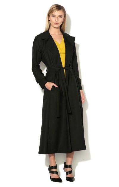 Haine la preturi mici: palton lung negru