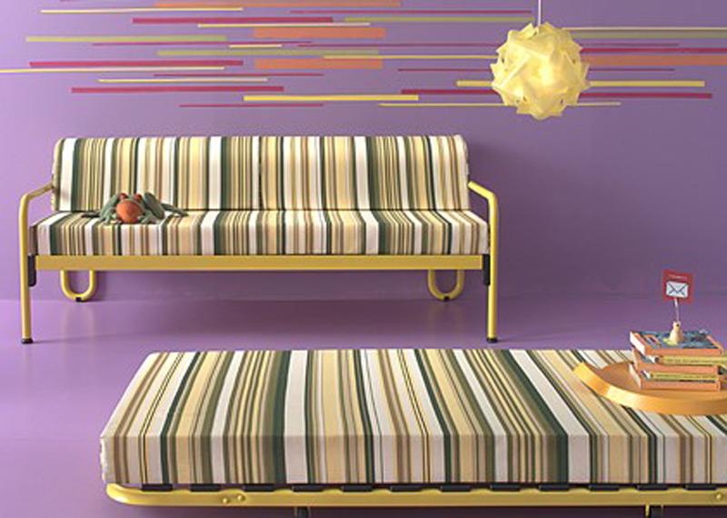 O canapea-pat ideala pentru un spatiu modest. Este foarte aerisita