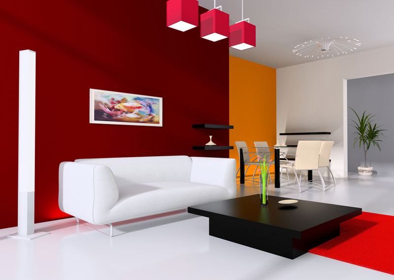10 combinatii de culori pentru casa ta - Rosu si Portocaliu - Slide 1 din 10