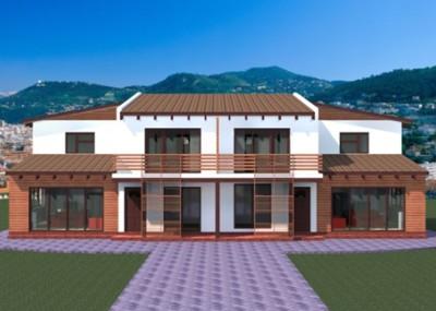 Casa de lemn duplex volsimetric 20 de modele de case din for Modele de duplex